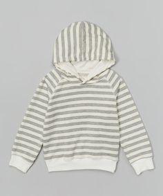 Another great find on #zulily! Gray Stripe Hoodie - Infant, Toddler & Kids by Leighton Alexander #zulilyfinds
