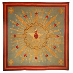 1stdibs - Substantial Sacred Heart Starburst Needlework explore items from 1,700  global dealers at 1stdibs.com