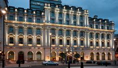 Sofitel London, St James by Studio 29 Types Of Architecture, Classic Architecture, Commercial Architecture, Light Architecture, Facade Lighting, Exterior Lighting, Lighting Design, Mall Facade, Facade House