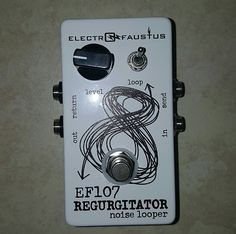 New in the box Noise machine from Electro Faustus. This pedal is a trippy and subtle way to add a little noise regurgitation to your rig. One of those pedals that can get really worked real quick but still kinda cool in the right spot. http://www.electrofaustus.com/ef107-regurgitator/
