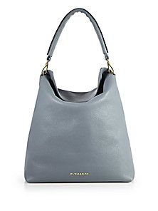 Burberry - Pebble Leather Hobo-Style Tote