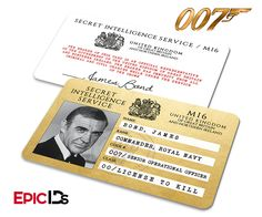 James Bond Inspired (Sean Connery) Secret Intelligence Service ID