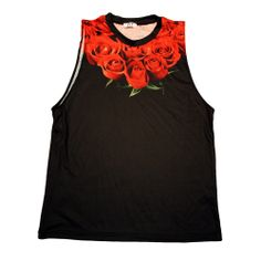 The Crown of Roses Tank represents a luxury crown of passion and beauty surrounding the neck with a tattoo-like powerful statement. Melbourne, Tank Man, Roses, Crown, Tank Tops, Fashion Design, Men, Black, Blouses