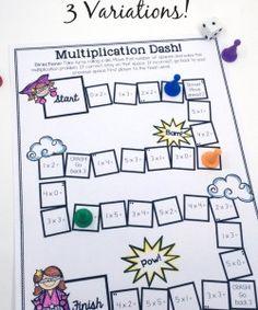 Printable Multiplication Games {FREE}