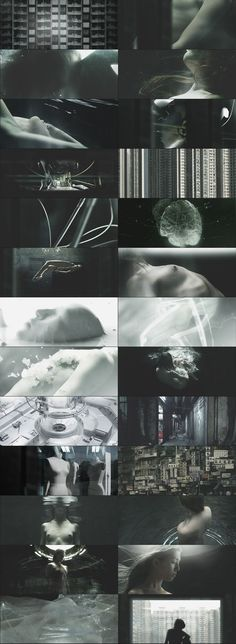 Ghost in the Shell « randomthoughtpattern Sci Fi Environment, Title Sequence, Ex Machina, Ghost In The Shell, Film Stills, Motion Design, Storyboard, Motion Graphics, Art Direction