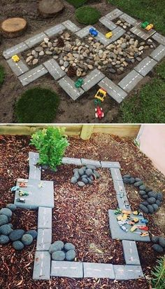 Garden Ideas Budget Backyard, Backyard For Kids, Backyard Landscaping, Easy Garden, Garden Art, Garden Design, Large Backyard, Diy Garden Ideas For Kids, Patio Ideas