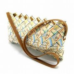 Subway map handbags by Ecoist