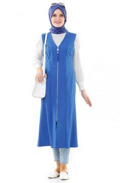 """Nursima Yelek-Saks ARM529-47 Sitemize """"Nursima Yelek-Saks ARM529-47"""" tesettür elbise eklenmiştir. https://www.yenitesetturmodelleri.com/yeni-tesettur-modelleri-nursima-yelek-saks-arm529-47/"""