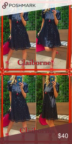 Shine Sparkle like you should everyday ladies, this flashy fun sassy sparkle LIz Claiborne beauty will make you feel like it's NYE every night of the week. Stunning end of story! Lovely condition! Liz Claiborne Dresses