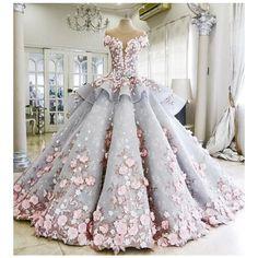 Wedding Dress Inspiration - MODwedding ❤ liked on Polyvore featuring dresses and wedding dresses
