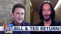 "Keanu Reeves & Alex Winter Credit The Fans For Getting ""Bill & Ted Face ... Keanu Reeves, Keanu Charles Reeves, Maude Garrett, Jon Batiste, Alex Winter, Late Night Talks, Blockbuster Film, Face The Music, Stephen Colbert"