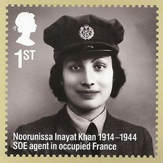 ( Bio & BBC Docu:: http://www.sunjayjk.com/noor-inayat.php ) Royal Mail released a stamp on WW2 Allied Spy in occupied France: Noor Inayat Khan, who was a Sufi Muslim, a descendant of South Indian King Tipu Sultan,  in March, 2014, which was also her birth centenary year, as part of a Set of 10 Stamps on 'Remarkable Lives'   http://www.business-standard.com/article/pti-stories/royal-mail-issues-stamp-of-ww-ii-heroine-noor-inayat-khan-114032401043_1.html