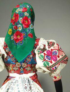 RARE Slovak Folk Costume Abelova Beaded Vest Embroidered Skirt Apron Blouse Kroj | eBay