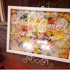 100均材料だけ!ウェルカムボードの作り方♪|LIMIA (リミア) Wedding Tree Guest Book, Guest Book Tree, Tree Wedding, Wedding Menu, Wedding Reception, Our Wedding, Welcome Boards, Diy And Crafts, Bouquet