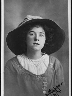Mabel Capper (1888-1966) British Suffragette, devoted to the Women's Social and Political Union. Capper was imprisoned six times, partook in a hunger strike and was among the first Suffragettes to be force fed.