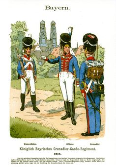 Knötel-Tafel 4/6, Bavaria Grenadier Guards Caption: the general is this tall, and he has an itchy stomach.