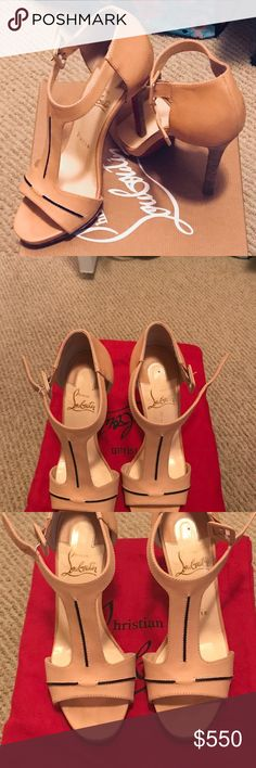 Almost new, wore once. I absolutely love these shoes, but instead of buying my size 5 I ordered a 5.5. I tried to wear them once but they were too big ☹️.  I hope someone else will love and wear them as I couldn't. Christian Louboutin Shoes Heels