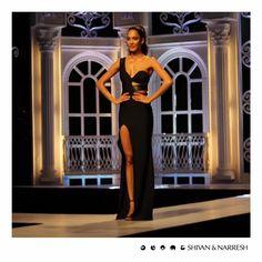 Lisa Haydon channeling fierce elegance in #ShivanAndNarresh #SNss16 #Black Cruise Gown at the launch of India's Next Top Model Season 2   #IndiasNextTopModel #Season2 #style #styleinspiration #photooftheday #stylegram #picoftheday #instadaily #fashion #igers #instalike #LisaHaydon