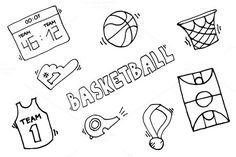 Basketball Vector Elements. Sport Icons. $5.00