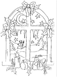 Christmas coloring sheets - Window color christmas coloring pages for free - ↑↑↑ Click the image for more ↑↑↑ Christmas coloring sheets – Window color christmas c - Christmas Colors, Christmas Art, Christmas Morning, Christmas Coloring Sheets, Parchment Cards, Christmas Drawing, Christmas Embroidery, Coloring Book Pages, Colorful Pictures