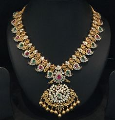 Gold For Jewelry Making Real Gold Jewelry, Gold Jewellery Design, Indian Wedding Jewelry, Bridal Jewelry, Mango Necklace, India Jewelry, Temple Jewellery, Jewelry Model, Jewelry Patterns