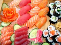 speachless! I could live on sashimi and sushi.