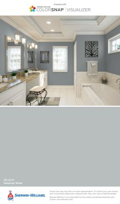 I found this color with ColorSnap® Visualizer for iPhone by Sherwin-Williams: Samovar Silver (SW 6233).