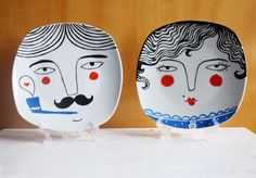 Hand painted plate decoration  by Nuria Diaz