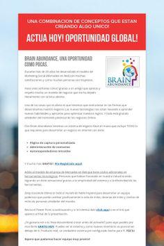 Actua Hoy! Oportunidad Global!