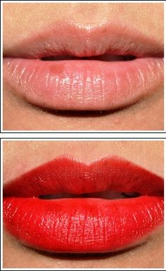 2 drops of red food coloring to one pea sized dollop of any kind of lip balm (I usually use carmex)  Apply to lips and don't eat/drink anything until dry. It lasts all day after that. Less food coloring=less intense color.