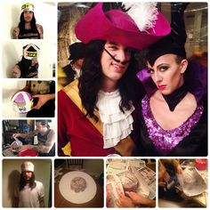 DIY Paper Mache Pirate Hat for Captain Hook: How To.  We used cardboard/poster board to make the base, and tied string to the sides to help it dry in a perfect pirate shape. Using the hair dryer  at the end helped the ends curl up nicely and dry faster, as well. After painted, we lined the inside with cotton balls and a cut-up old t-shirt for comfort. Voila!