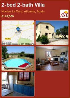 2-bed 2-bath Villa in Nucleo La Xara, Alicante, Spain ►€145,000 #PropertyForSaleInSpain