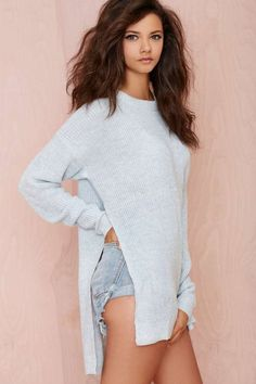 Seek Out Split Sides Sweater - Pullover   Newly Added      Sweaters