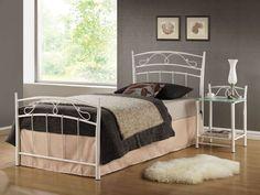 Štýlová kovová posteľ SEINA 90. Čielka postele majú dekoračný ornament. Rozmer (v/š/h) 103/99/208 cm. V cene postele je rošt. #byvanie #domov #nabytok #postele #jednolozka #modernynabytok #designfurniture #furniture #nabytokabyvanie #nabytokshop #nabytokainterier #byvaniesnov #byvajsnami #domovvashozivota #dizajn #interier #inspiracia #living #design #interiordesign #inšpirácia Siena, Palawan, Furniture, Home Decor, Design, Products, Decoration Home, Room Decor