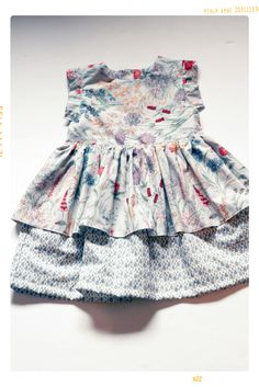 vintage inspired floral and rain drop print dress for girls by fleur and dot