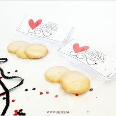 bijdeb: Valentijnsdag snoepzakje label...