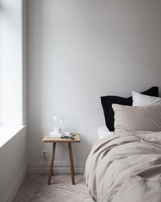 Bedroom in soft blus