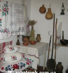 Old traditional Ukrainian house inside, from Iryna
