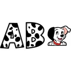 """101 Dalmatians® 4"""" Deco Letters. Great for creating a themed bulletin board. 288 per package. $7.99 #Disney"""