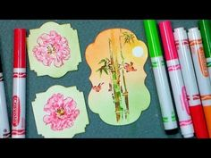 Cool Stamping Effects with 99 Cent Crayola Markers! - YouTube