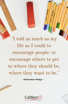 Encourage one another! Together, we can do great things.