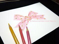2013_10_16_pink_01_s lovely ribbon   for this drawing I used: Faber castell polychromos Stonehenge paper  © Belta(WAKABAYASHI Mayumi )