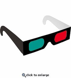 Paper Glasses — Rainbow Symphony, Inc. 3d Glasses, Red And Blue, 3 D, Rainbow, Paper, Frame, Black, Rain Bow, Picture Frame