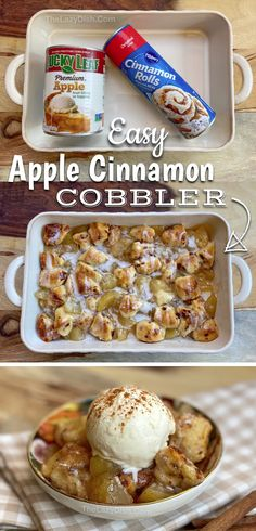 Apple Recipes, Sweet Recipes, Baking Recipes, Apple Cobbler Recipes, Quick Easy Desserts, Easy Delicious Desserts, Quick Dessert Recipes, Easy Fall Treats Recipes, Easy Desserts For Thanksgiving