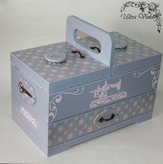 Nähkästchen Nähkasten NähkorbStricknadeln Box mit von UltroViolet