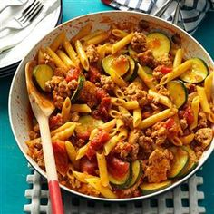 Jiffy Ground Pork Skillet Recipe from Taste of Home