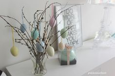 Easter/ Pakkomielteitä Glass Vase, Easter, Interior, Home Decor, Decoration Home, Indoor, Room Decor, Easter Activities, Interiors