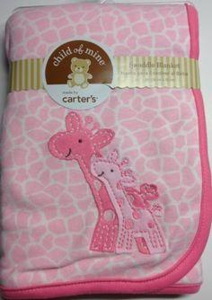 Carter's Child of Mine Pink White Giraffe Baby Newborn Swaddle Blanket, Animal Print Baby Doll Accessories, Baby Girl Dolls, Baby Necessities, Bitty Baby, Baby Girl Blankets, Everything Baby, Baby Store, Giraffe Baby, Giraffe Nursery