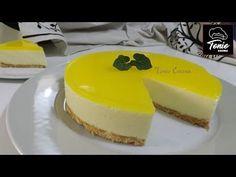 Tarta fría de limón. Sin horno. ¡Receta fácil! Cooking Recipes, Healthy Recipes, Barbacoa, Sin Gluten, Flan, Cheesecakes, Mousse, Pudding, Sweets