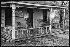 The Sunday porch/enclos*ure: Up for the winter, Mayetta, Kansas,November 1940, by John Vachon, via Library of Congress.